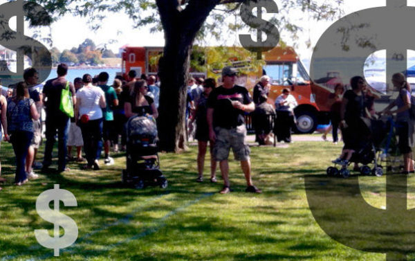 Food Truck Customers Crowd