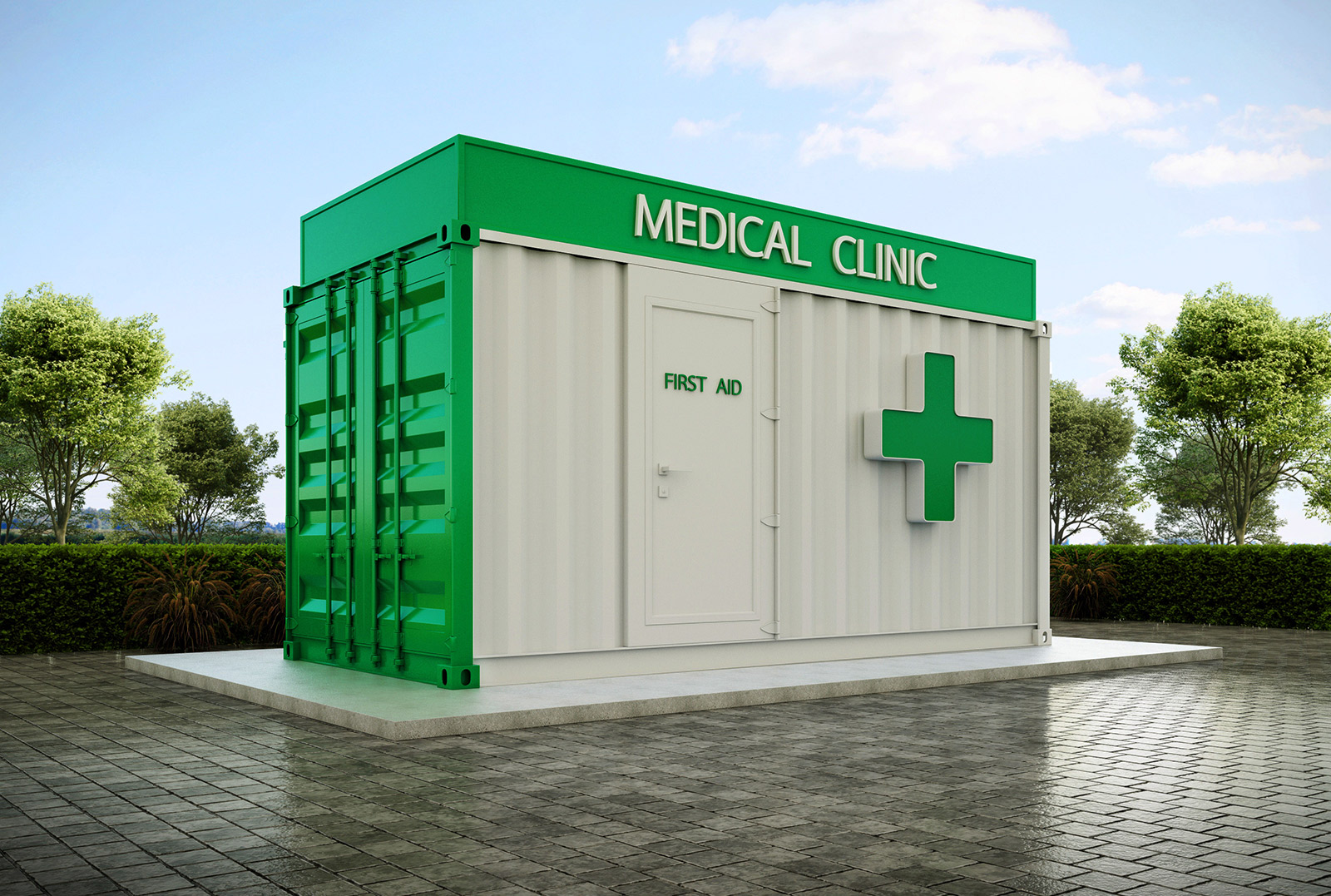 clinic container